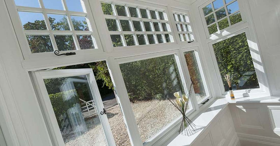 Flush 100 timber alternative windows crawley
