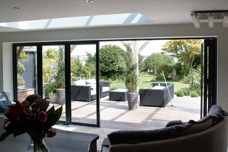 Bi folding aluminium doors crawley