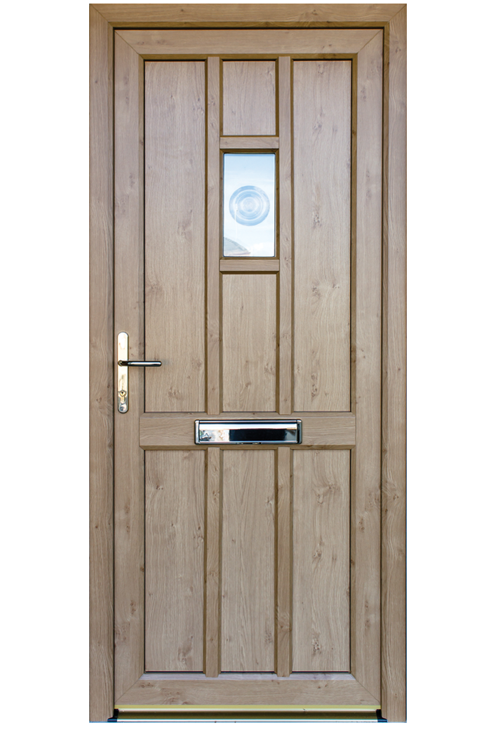 Timber Alternative Single Front And Back Doors Timber
