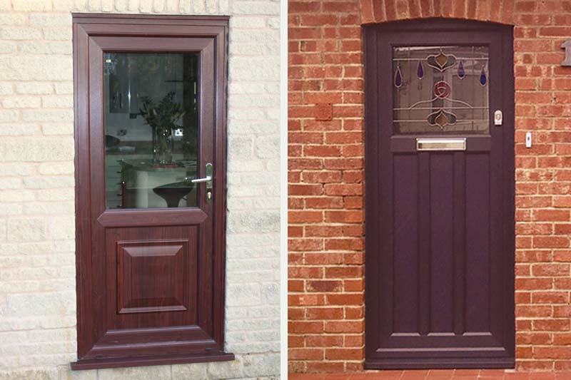 Diamond Glass & Windows single front back doors upvc