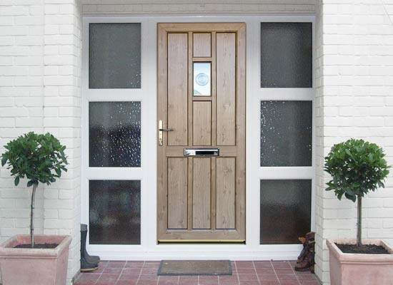 Timber alternative single front back doors shaws