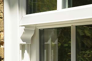 Traditional styling vertical sliding windows