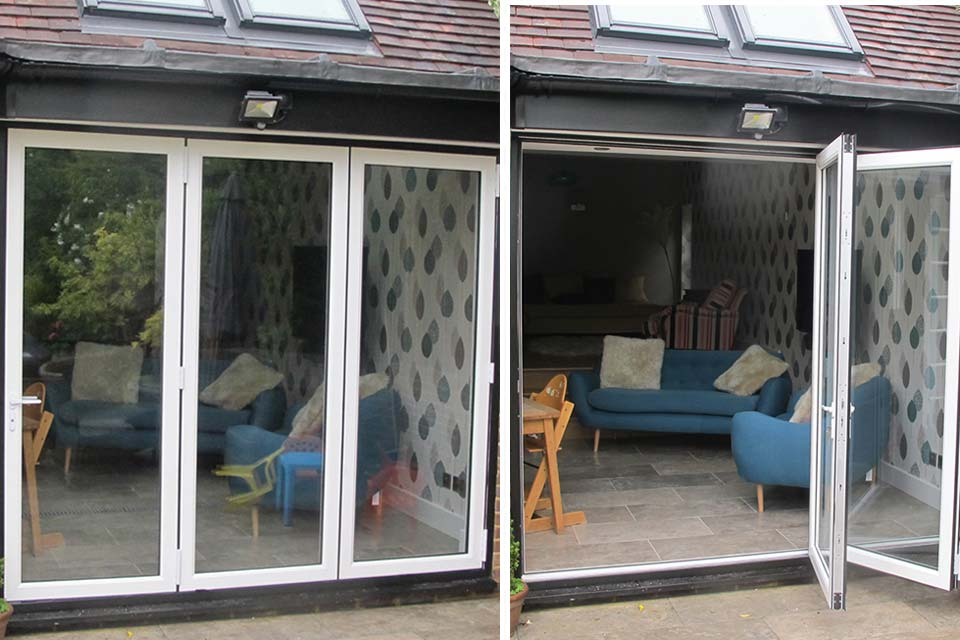 Upvc bi folding doors crawley