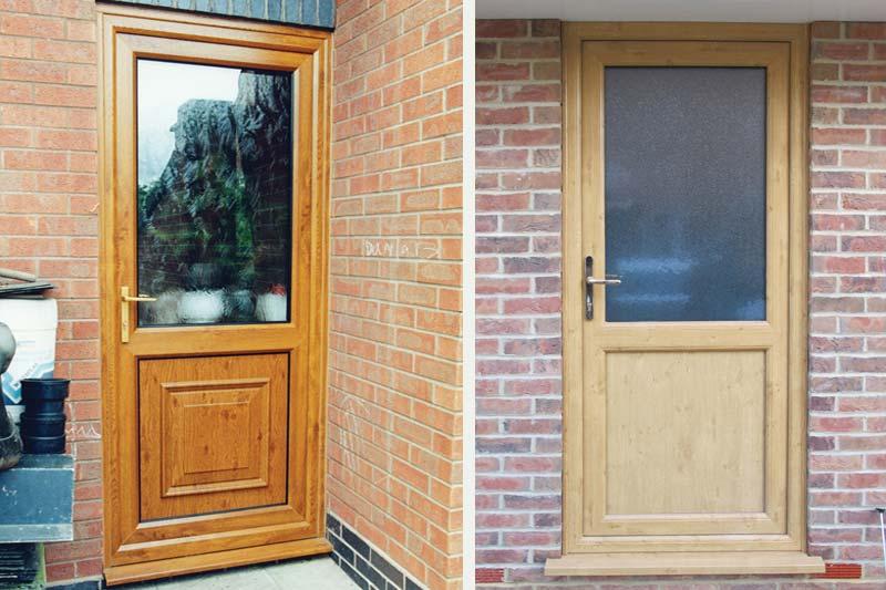 Upvc single front back doors crawley