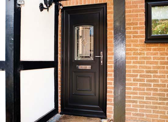 Upvc single front back doors shaws