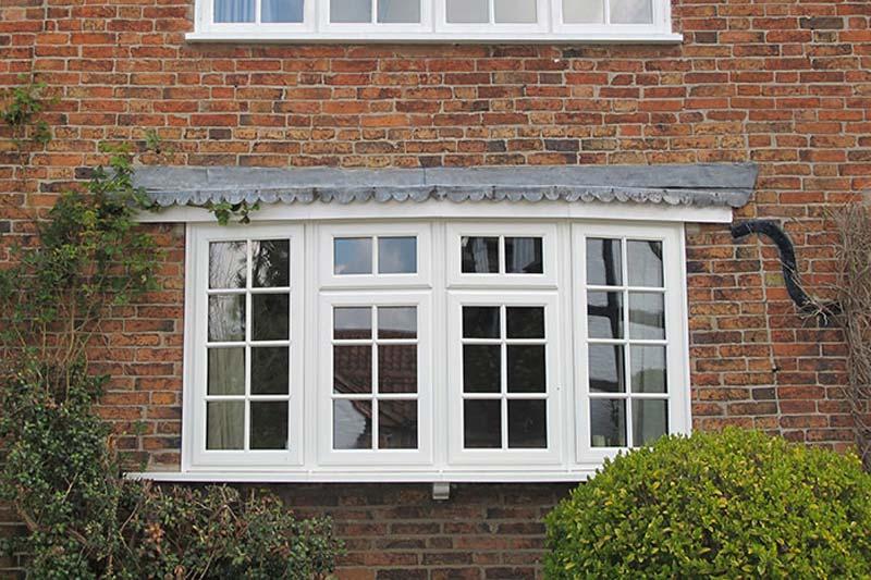 White double glazing