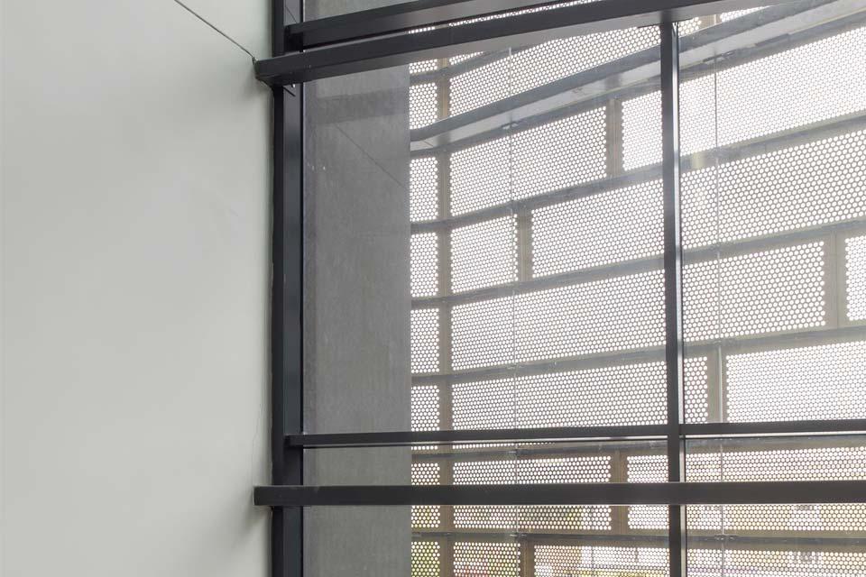Commercial aluminium curtain walling