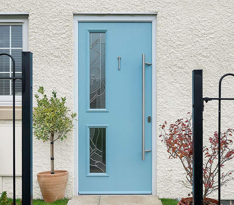 Duck egg blue composite door stop