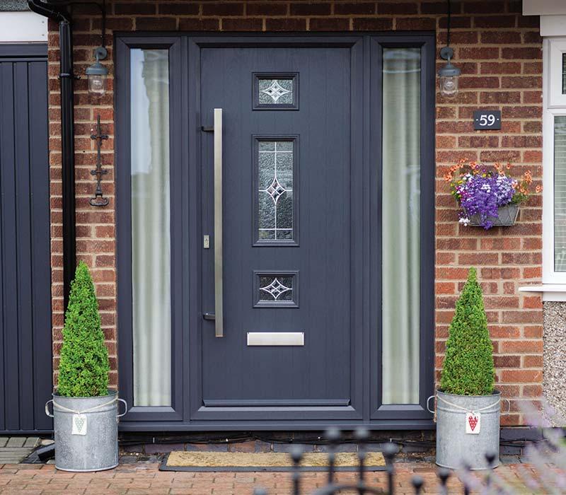 Grey door stop composite