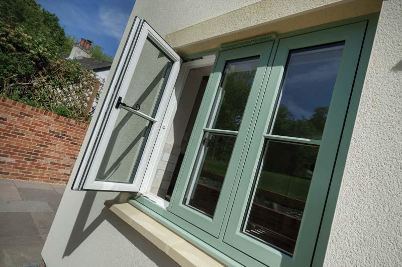 High performance timber alternative flush casement windows crawley