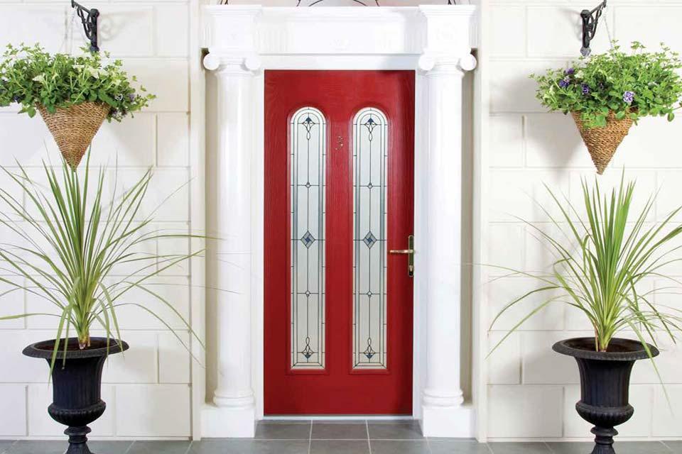 Palladio composite door red