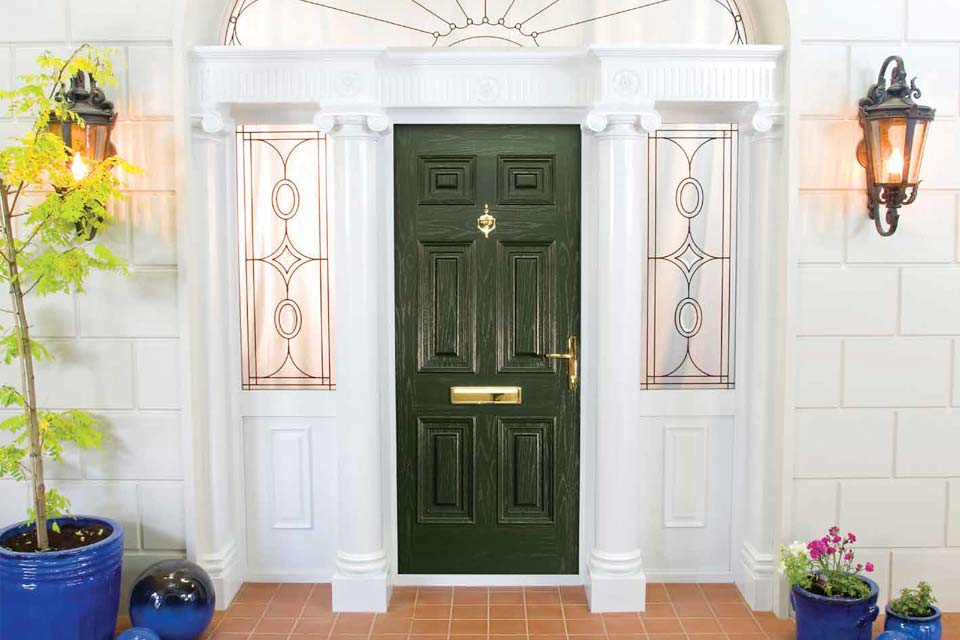 Single black palladio composite door