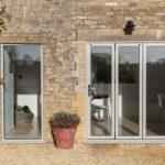 Slimline aluminium bi folding doors
