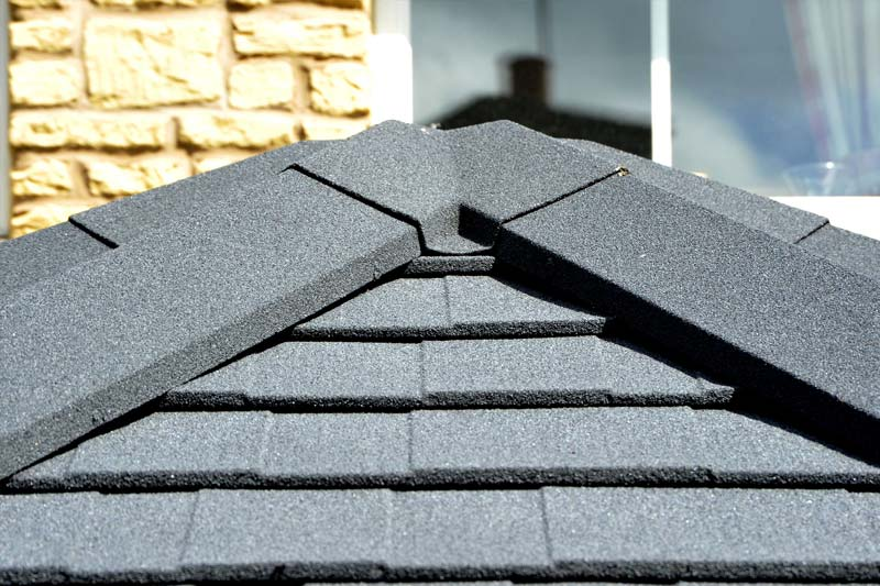 Thermally efficient tiled effect roof