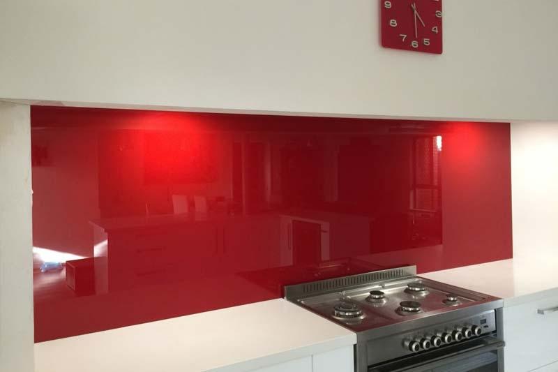 Red kitchen splashbacks crawley