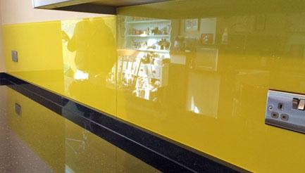 Yellow kitchen splashbacks crawley