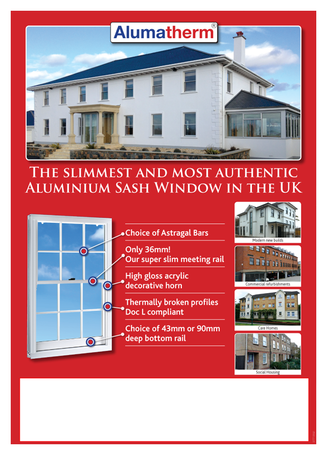 Alumatherm vertical sliding window