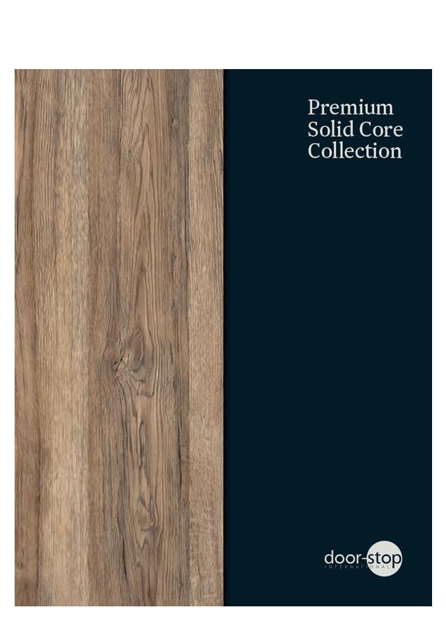Door stop solid core collection