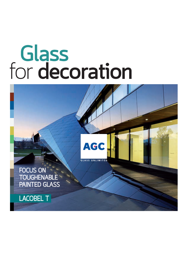 Glass for decoration
