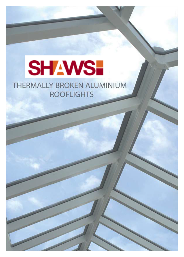 Thermally broken aluminium rooflights
