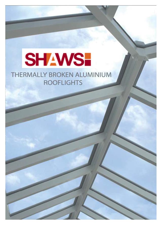 Thermally broken aluminium rooflights