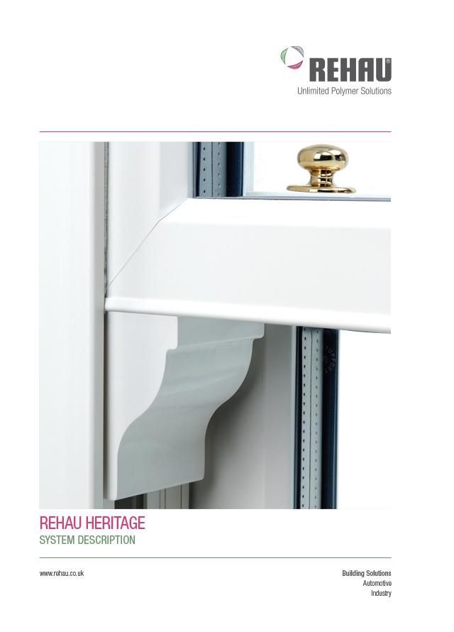 Rehau heritage vertical sliding sash windows spec