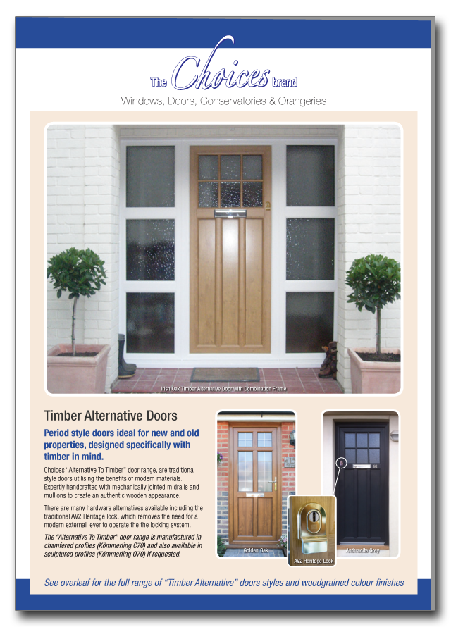 Timber alternative doors