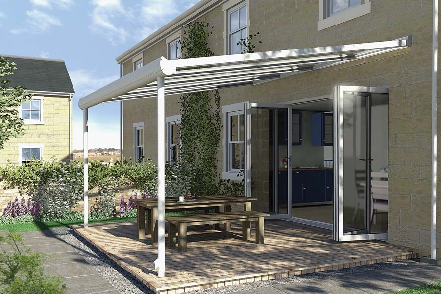 Ultraframe pergola conservatory roof shaws of crawley