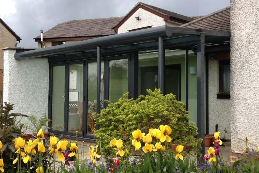Ultraframe veranda conservatory roof shaws of crawley