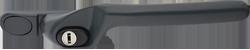 Crank handle anthracite grey
