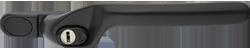 Crank handle black grey