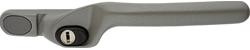 Crank handle dark metallic silver