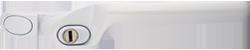 Crank handle dark white