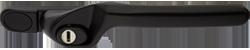 Crank handle jet black