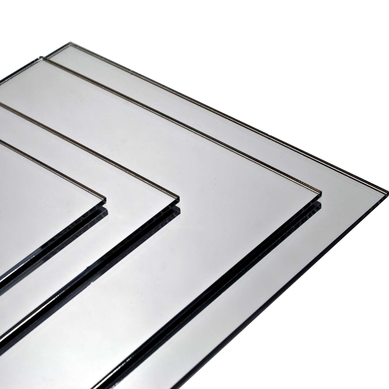 Stacked cut to size mirrors