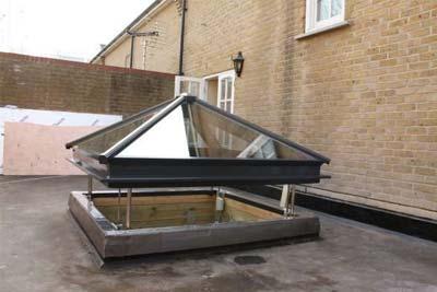 Pyramid roof lights 10
