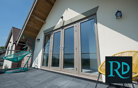 high rise balcony with residence french patio doors