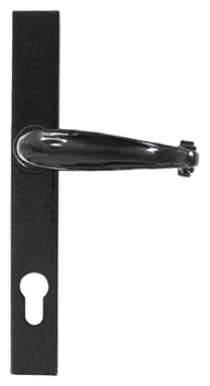 Black cottage slimline handle for residence doors and windows