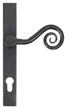 Black monkeytail slimline handle for residence doors and windows