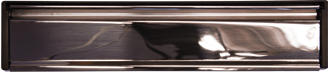 Chrome letterbox for residence doors and windows