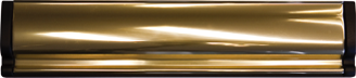 Gold effect letterbox