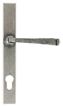 Pewter patina avon slimline handle for residence doors and windows