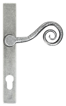 Pewter patina monkeytail handle for residence doors and windows