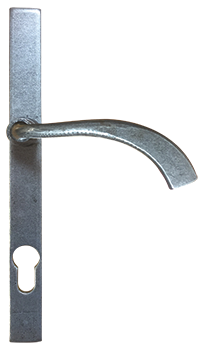 Pewter pear drop handle for residence doors and windows