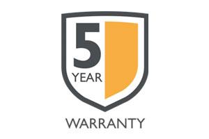 5 year warranty design
