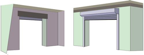 External face fix garage doors