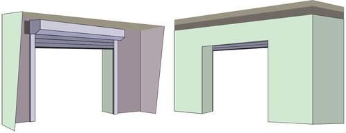 Internal face fix garage doors