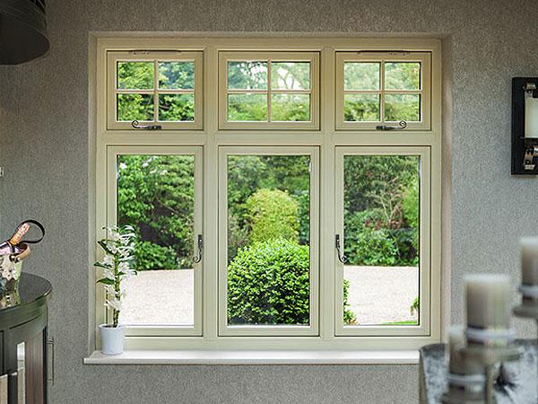 Timber alternative triple glazed windows